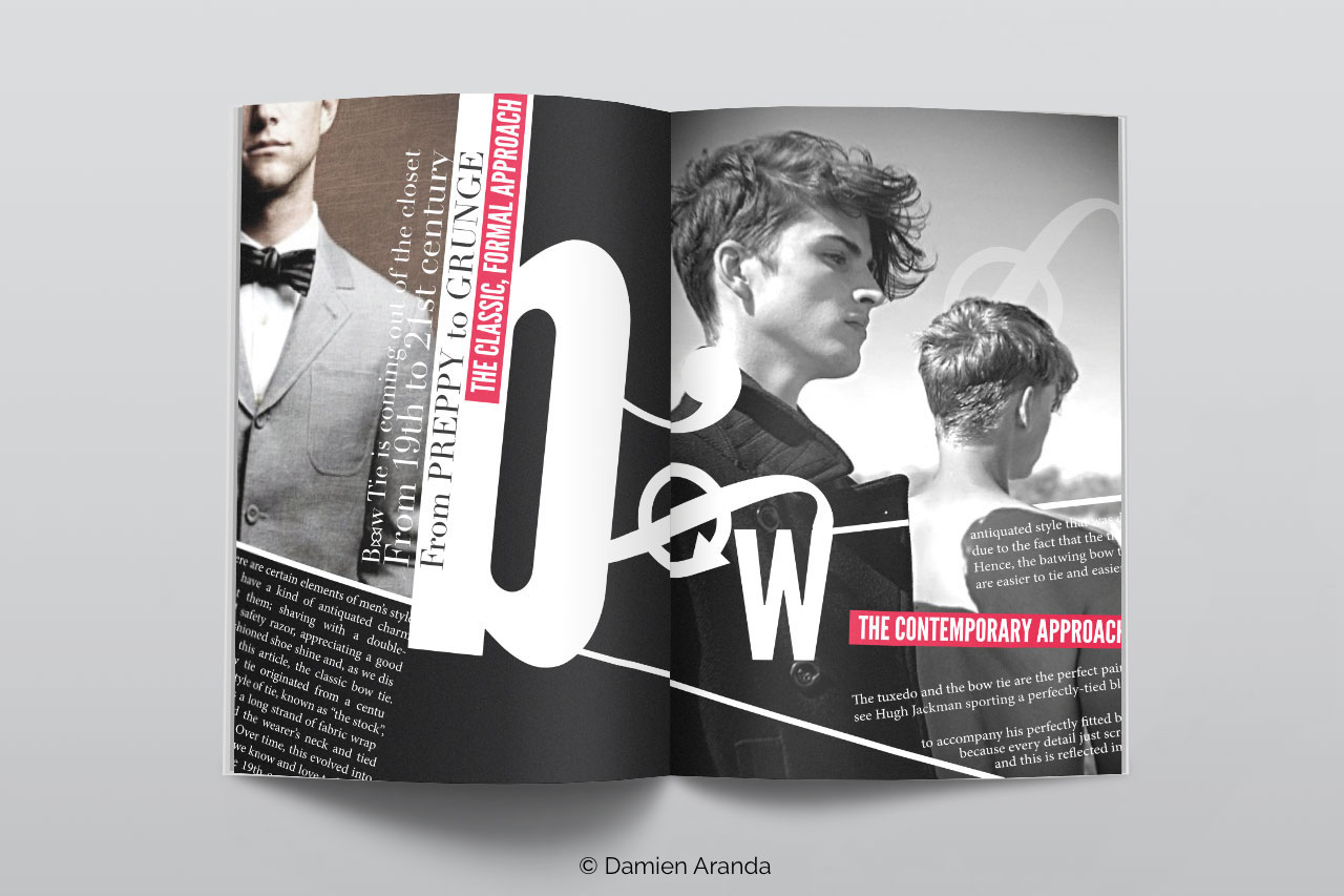 magazine classe homme en noir et blanc