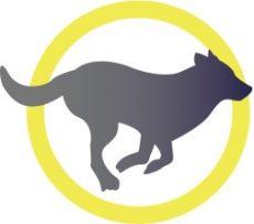 icône loup qui court