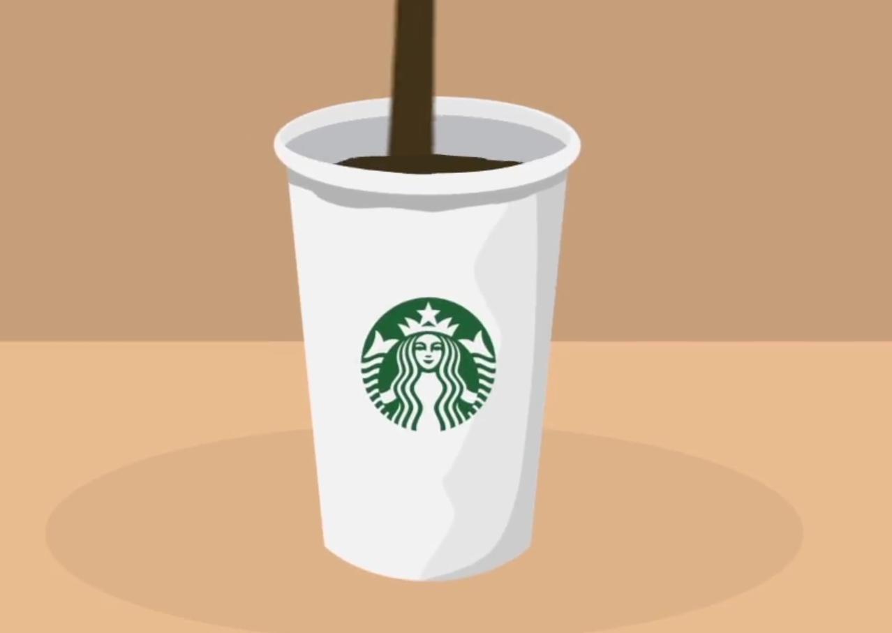 Gobelet Starbuck se remplissant de café